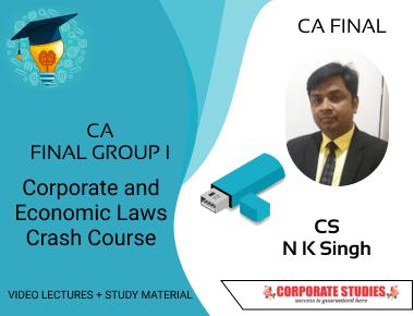 CA Final Corporate and Economic Laws Crash Course